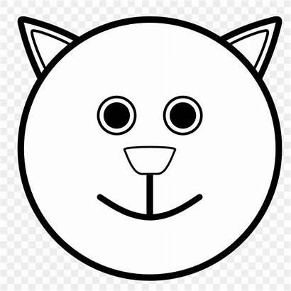 Face Smiley Coloring Pages Colouring Happiness Cat