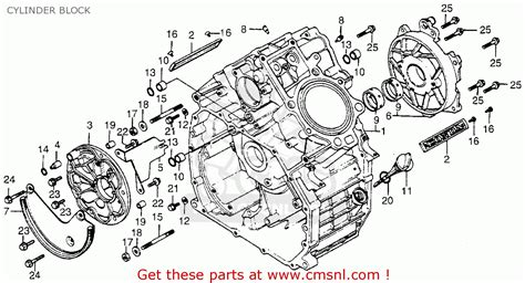 Ga Scooter Diagram by Honda Cx500 1979 Z Usa Cylinder Block Schematic Partsfiche