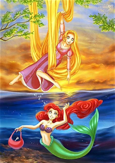 walt disney fan art princess rapunzel princess ariel walt disney characters fan art