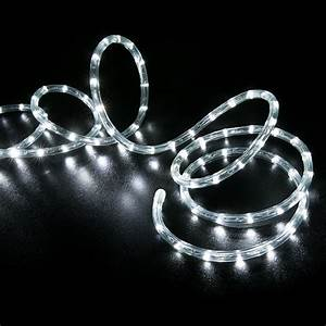 Cool white led rope light home outdoor christmas