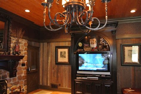Like the wood wall treatment!   Home ideas   Pinterest