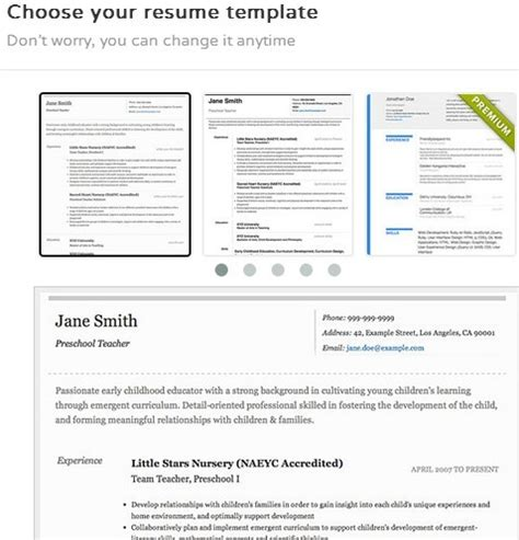 Resume Templates Google Chrome  Sample Resume