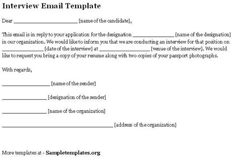 interview confirmation email letter reply sle letters free sle letters