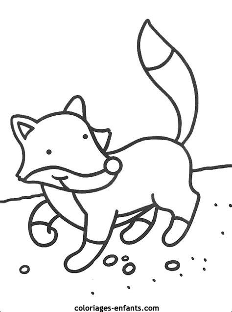 dessin renard facile enfants