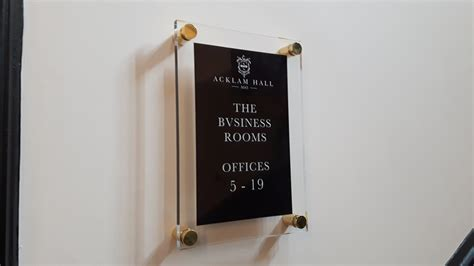 wall mounted perspex signs classic signs