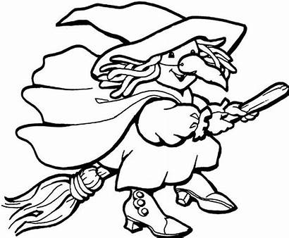 Witch Coloring Pages Printable Halloween Witches Activity