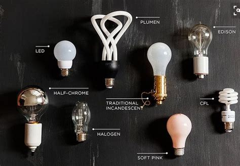 how to tell apart different types of light bulbs just by