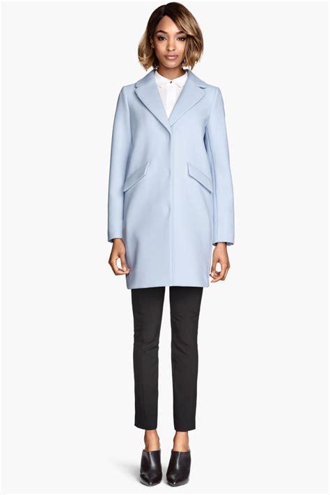 light blue coat womens coat light blue h m us