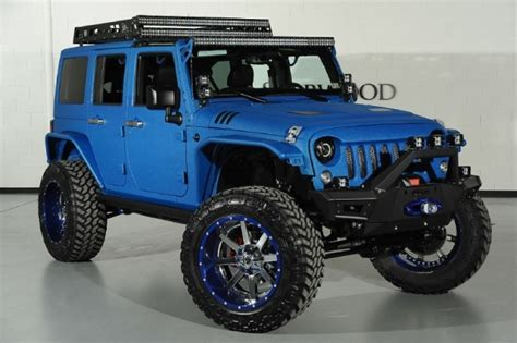 starwood jeep blue modified candy blue jeep wrangler by starwood customs
