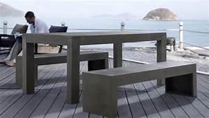 Möbel Aus Beton : beliani gartenm bel aus beton betonm bel tisch mit ~ Michelbontemps.com Haus und Dekorationen
