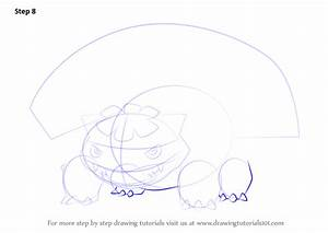 Step by Step How to Draw Mega Venusaur from Pokemon ...