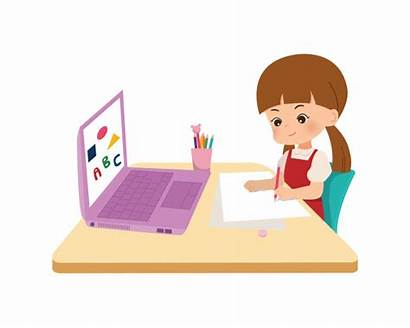 Vector Education Corona Pandemic Background Normal Laptop