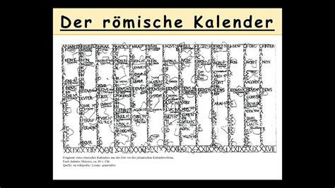 der roemische kalender erklaert wie datierten die roemer