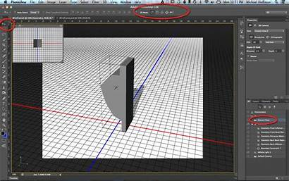 3d Photoshop Wireframe Elements Perspective Wireframes Exporting