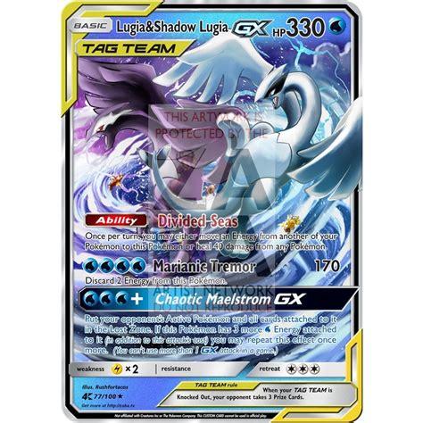 Draw cards from your deck until you have drawn lugia. Lugia & Shadow Lugia GX Custom Pokemon Card - ZabaTV