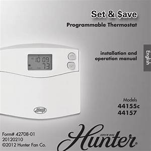 Hunter Thermostat Wiring Instructions