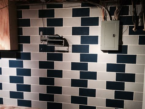 decorating ideas for cinder block walls add some interest to your cinderblock basement wall by