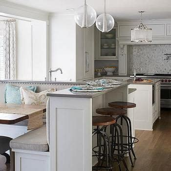 Island Booth Seating by Kitchen Island With Built In L Shaped Dining Banquette
