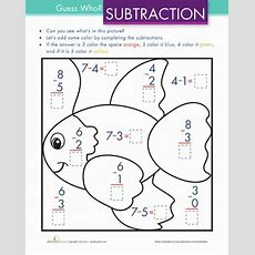 Color By Simple Subtraction  Worksheet Educationcom