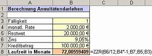 Rate Berechnen Formel : bersicht ms excel funktionen zzr ~ Themetempest.com Abrechnung