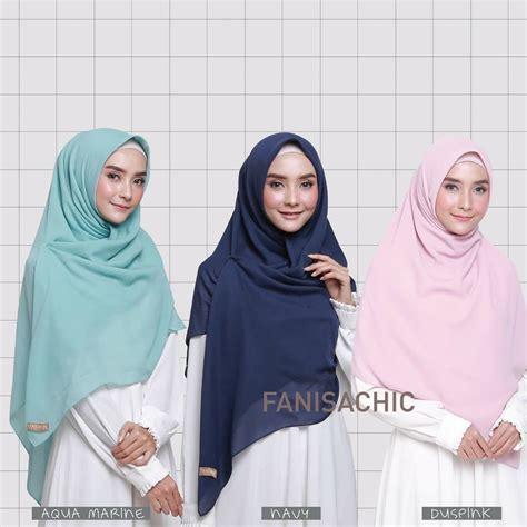 model hijab segi empat simple modis terpopuler
