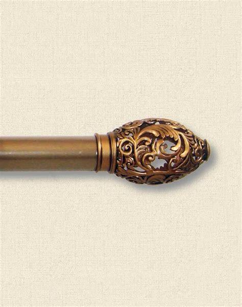 lace gold adjustable decorative curtain rod