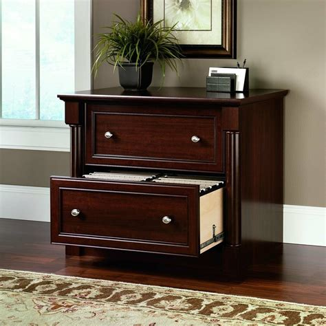lateral file cabinet  drawer cherry wood document storage