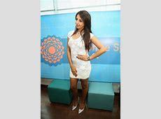 Sanjjanaa in white mini skirt at Sapphire spa launch