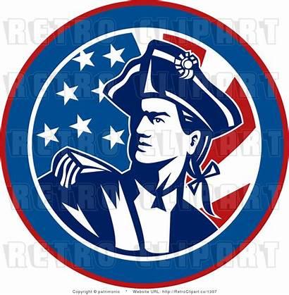 Revolutionary War American Soldier Clipart Flag Bostick