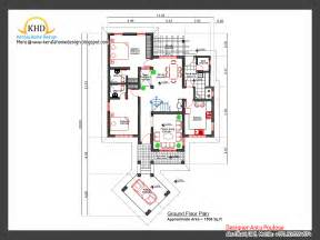 open one story house plans home plan and elevation 2000 sq ft kerala home design