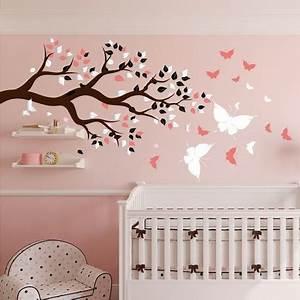 Autocollant Chambre Bébé : stickers chambre b b arbre et papillons pour du bonheur ~ Melissatoandfro.com Idées de Décoration