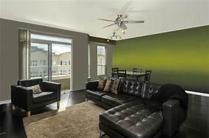 Moderne Wohnzimmer Wandgestaltung : wohnzimmer wandgestaltung mit farbe ombre wand streichen ~ Michelbontemps.com Haus und Dekorationen