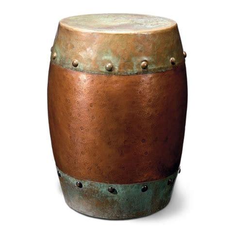 metal drum side table metal drum table home style pinterest