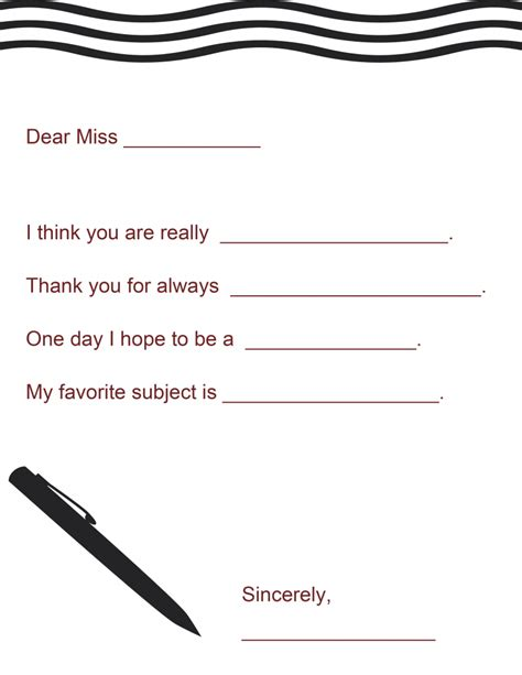 teacher appreciation letter template