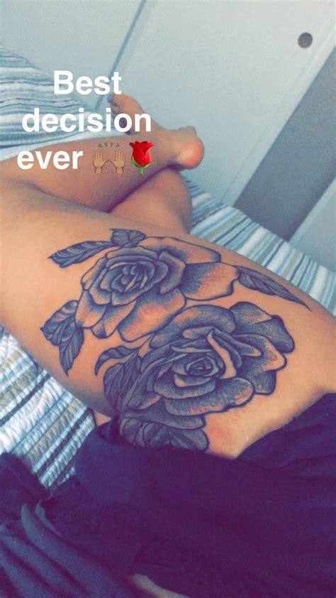 Rose Thigh Tattoo #tattoolegthigh  Awesome Pinterest