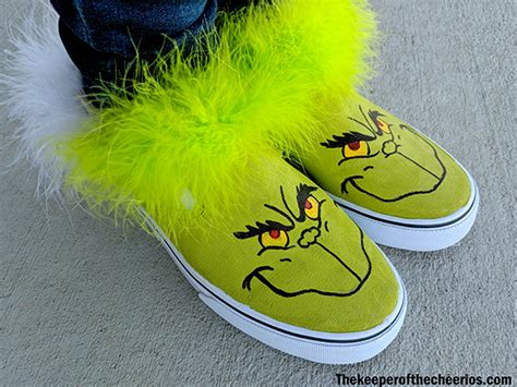 diy grinch shoes  keeper   cheerios
