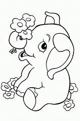 Elephant Coloring Valentine Colouring Pdf sketch template