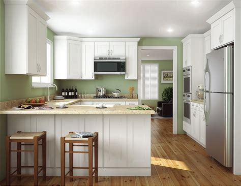aspen white shaker ready  assemble kitchen cabinets  rta store