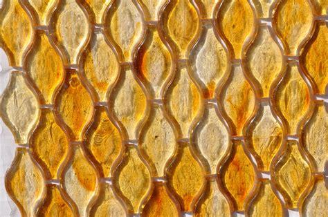 fusion glass honey gold teardrop  glass tile home