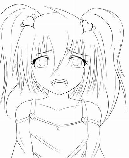 Anime Coloring Pages Sad Depressed Crying Drawing