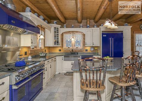 log cabin kitchen blue appliances norfolk kitchen