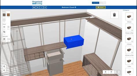 Design My Closet Free by New 3d Closet Design Tool Organizedliving