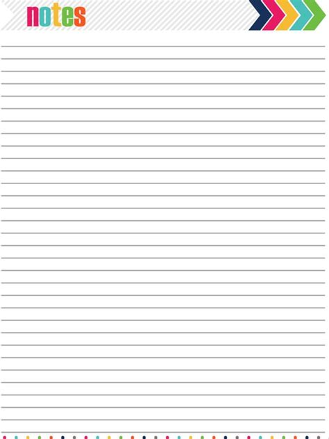 notes page printable instant   iheartorganizing