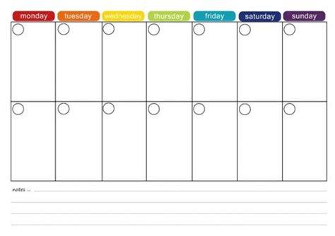 printable  week calendar printable  week calendar