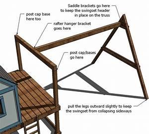 Ana white build a how to build a swing set for the for Building plans for a frame swing set