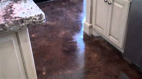 acid stained look decorative concrete overlay replaces