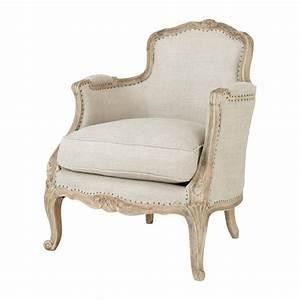 Chauffeuse Maison Du Monde : fauteuil en lin maupassant maisons du monde ~ Teatrodelosmanantiales.com Idées de Décoration