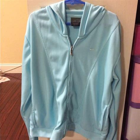 light blue nike windbreaker 25 off nike tops light blue nike dri fit jacket with