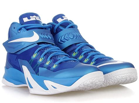 nike zoom lebron soldier  photo blue white volt