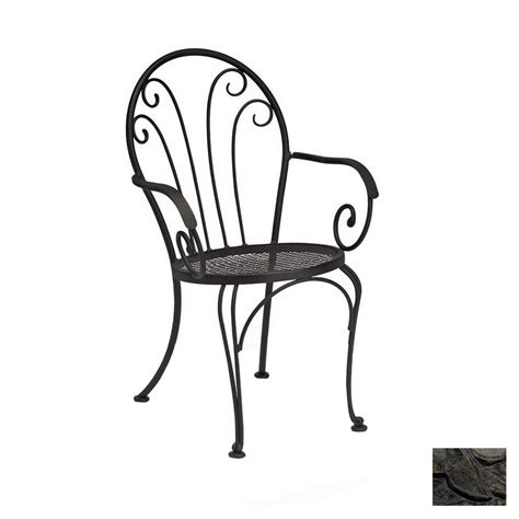 shop cascadia bistro wrought iron patio dining chair at
